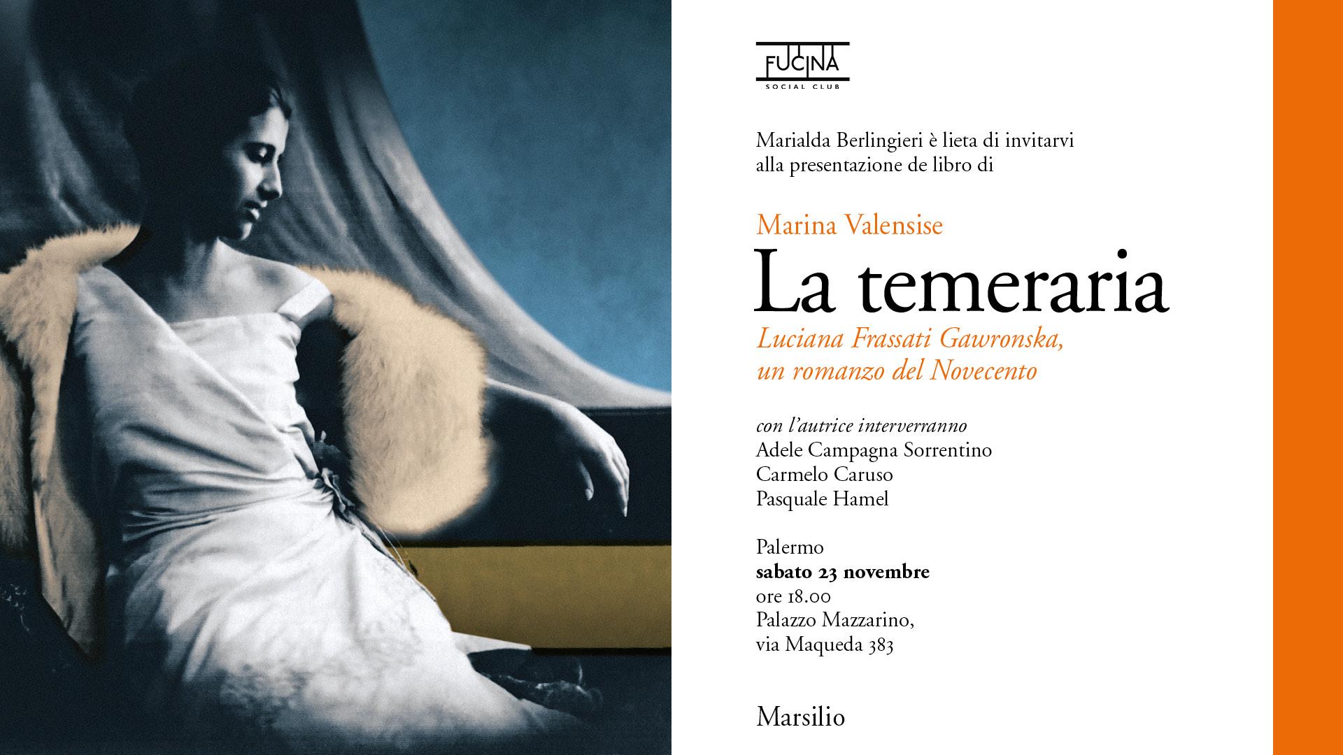 La Temeraria - Marina Valensise - Fucina Social Club